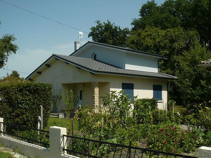 Sur l vation atout charpente for Agrandissement maison girolle