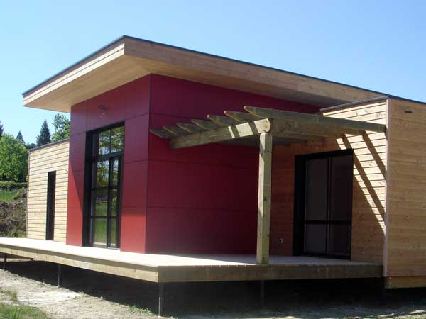 Maison ossature bois atout charpente for Petite maison construction